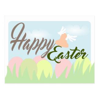 Happy Easter Tender Pastel Colors postcard