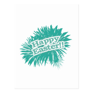 Happy Easter Theme Design Postcard