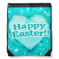 Happy Easter Theme Drawstring Bag
