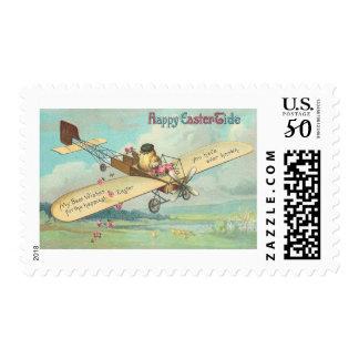 Happy Easter-Tide Fine Vintage Chick Pilot Postage