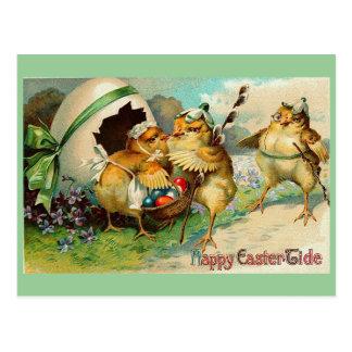 Happy Easter Tide Vintage Postcard