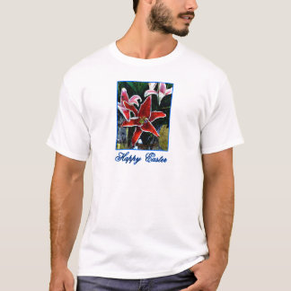 Happy Easter Tiger Lily b Blue The MUSEUM Zazzle G T-Shirt