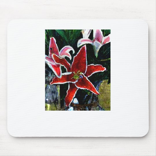 Happy Easter Tiger Lily The MUSEUM Zazzle Gifts Mouse Pad