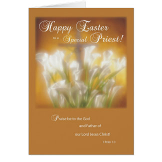 Happy Easter to a Catholic Priest Card