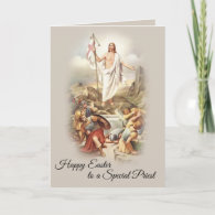 Happy Easter to a Special Catholic Priest Card