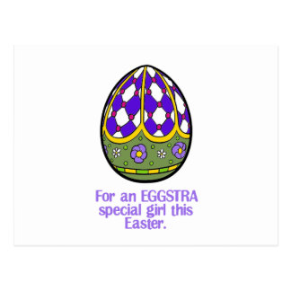 Happy Easter To An Eggstra Special Girl Postcard