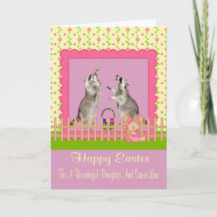 Daughter and son in law easter gifts on zazzle happy easter to daughterson in law greeting card negle Images