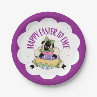 Happy Easter to Ewe 7 Inch Paper Plate