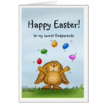 Happy Easter to my Godparents - Juggling Bunny Card