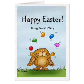Happy Easter to my Mom - Juggling Bunny Card
