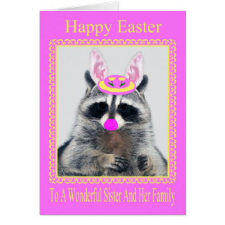 Happy Easter To Sister And Family Greeting Card