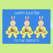 Happy Easter to the triplets. Card