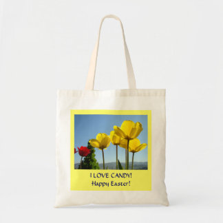 HAPPY EASTER! Tote Bag gifts I Love Candy Tulips