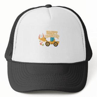 Happy Easter Tractor Gift Boys Kids Trucker Hat