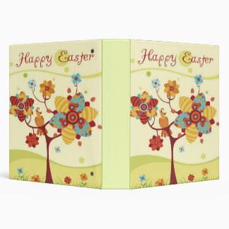 Happy Easter Tree Bird Set 3 Ring Binders