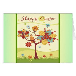 Happy Easter Tree Bird Set Card
