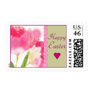 Happy Easter Tulip Postage Stamps