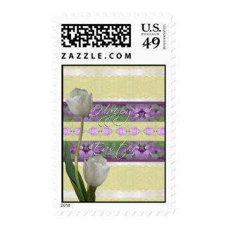 Happy Easter Tulips Stamp