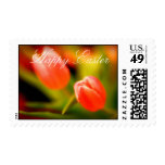 Happy Easter Tulips Postage Stamps