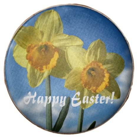 Happy Easter! Two yellow Daffodils 2.2 Chocolate Covered Oreo