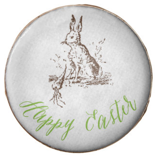 Happy Easter Vintage Bunny Cookies Chocolate Dipped Oreo