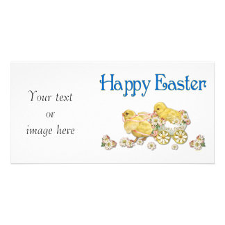 Happy Easter Vintage Chicks Photo Card