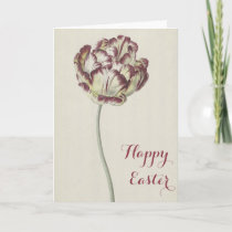 Happy Easter - Vintage Yellow & Red Tulip Card