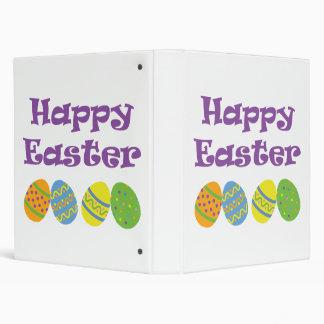 Happy Easter Vinyl Binder