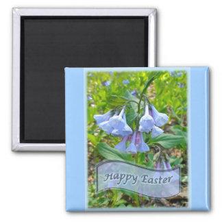 Happy Easter Virginia Bluebells Magnet