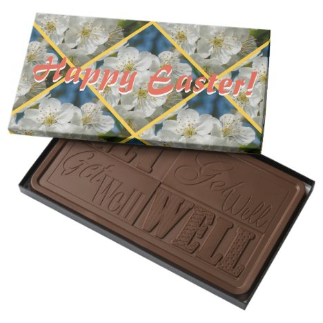 Happy Easter! White cherry Blossoms 01.2 Milk Chocolate Bar