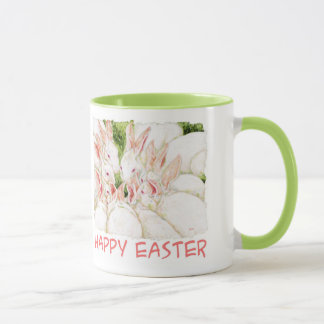 Happy Easter White Rabbit Mug