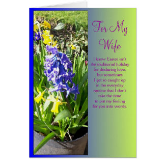 Happy Easter Wife Card - Hyacinth