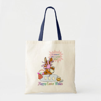 Happy Easter Wishes Tote Bag