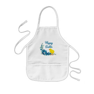 Happy Easter With a Baby Chick Aprons