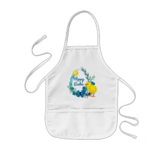 Happy Easter With Baby Chick Kids' Apron