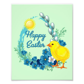 Happy Easter With Baby Chick Photograph