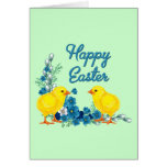 Happy Easter With Baby Chicks Cards