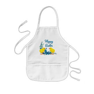 Happy Easter With Baby Chicks Kids' Apron