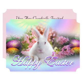 Happy Easter with Bunny Card