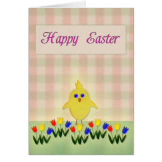 Happy Easter with Chick Card