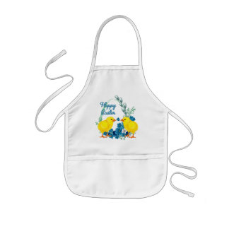Happy Easter With Chicks Apron