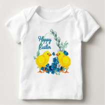 Happy Easter With Chicks Baby T-Shirt