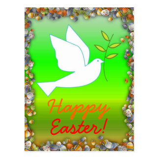 Happy Easter with  Dove Postcard