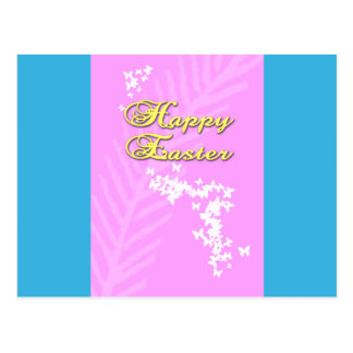 Happy Easter with Easter Butterflies Postcard