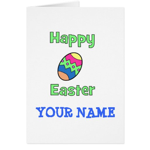 Happy Easter with Egg Greeting Card