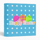 HAPPY EASTER WITH EGGS 3 RING BINDER