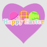 HAPPY EASTER WITH EGGS HEART STICKER