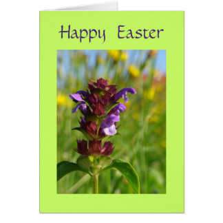 Happy Easter with flowers Card