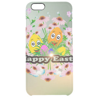 Happy easter with funny easter eggs uncommon clearly™ deflector iPhone 6 plus case