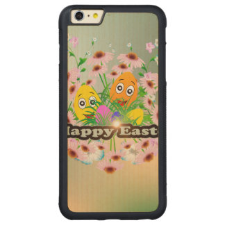 Happy easter with funny easter eggs carved® maple iPhone 6 plus bumper
